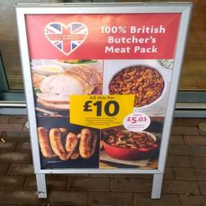 Morrisons British Meat Pack 2.3kg - £10 @ Morrisons instore