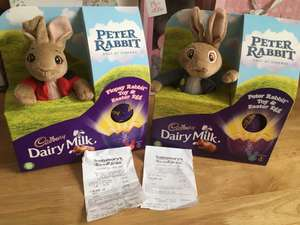 Easter Egg Peter/Flopsy Rabbit  teddy with 72g Chocolate Egg £5 instore (Sainsburys)