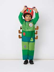 Less than 1\2 price- dressing up costumes from £6, very hungry caterpillar upto 3-4 years @ Asda