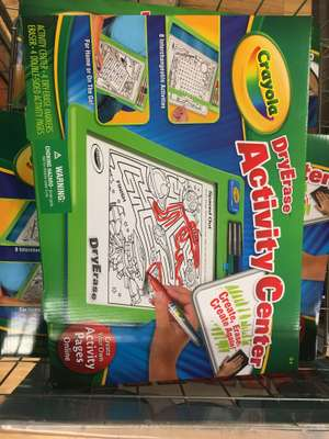 Crayola dryerase activity centre £2 at poundland