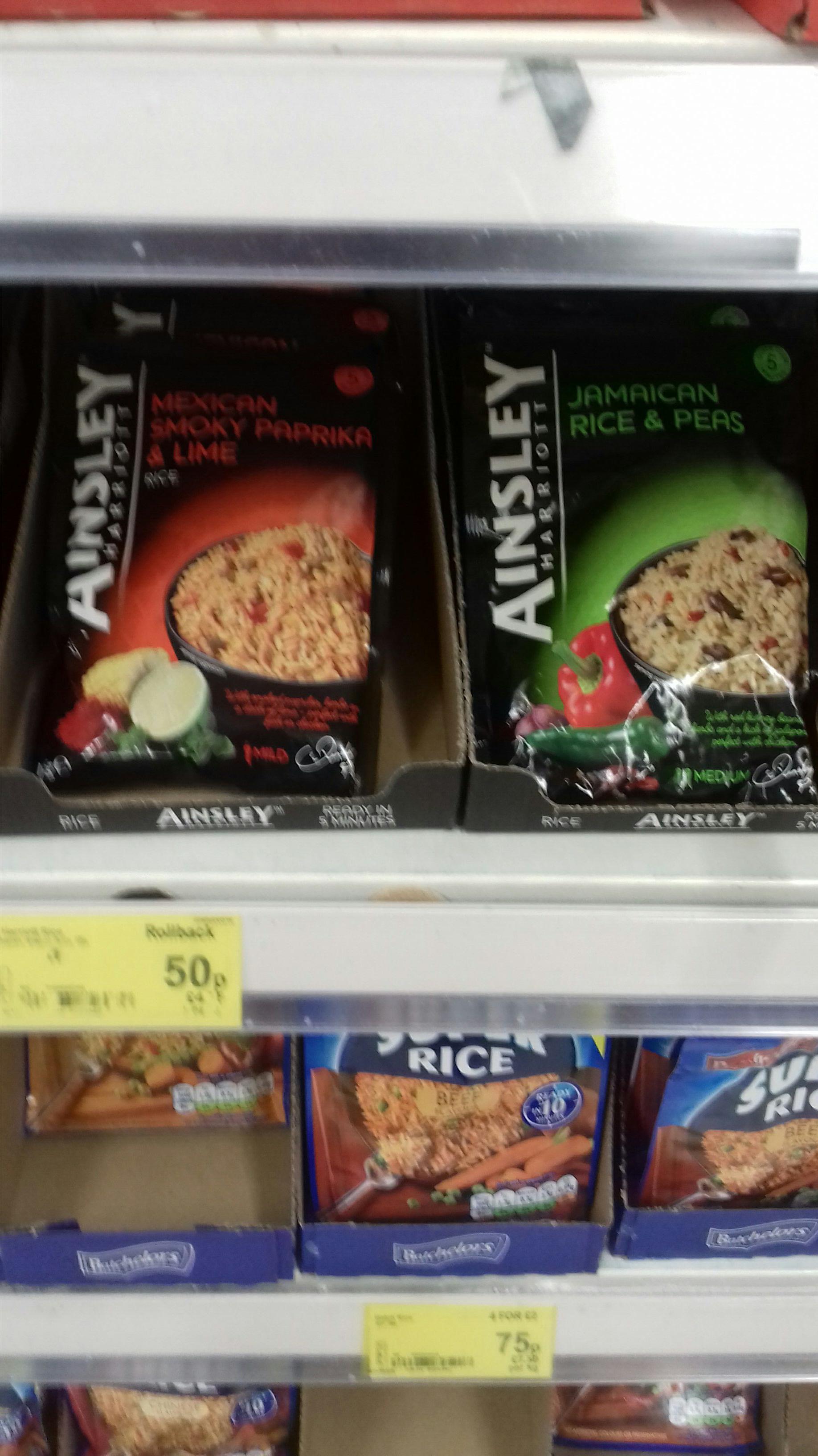 Ainsley harriott rice variety @ asda - national 50p