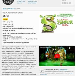 Shrek the musical - wales millennium centre - from £19