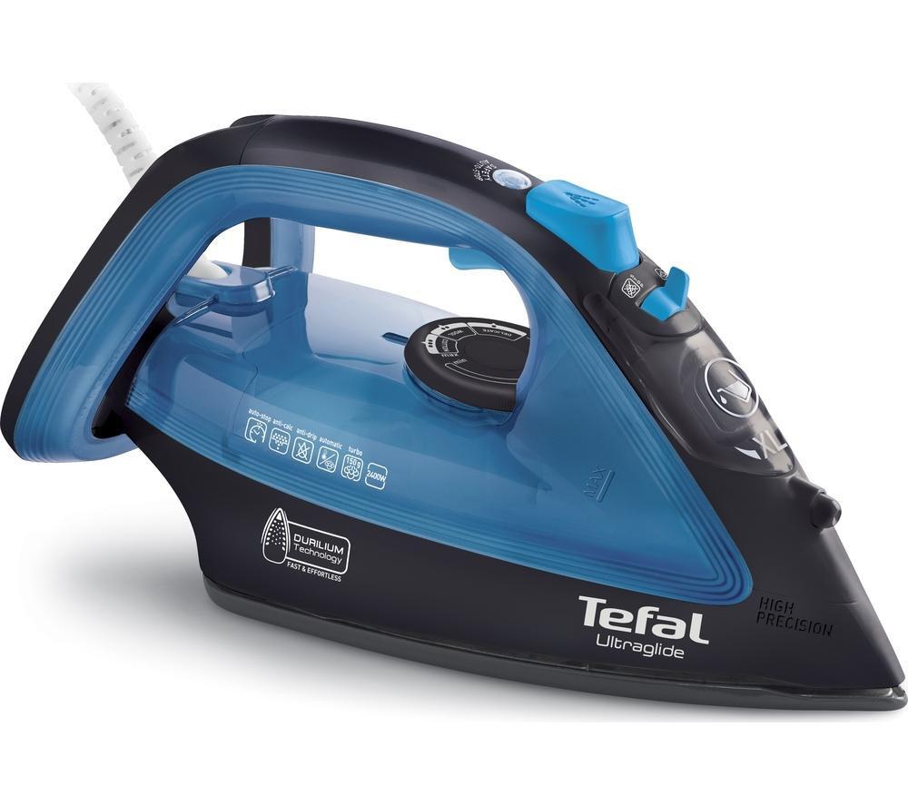 TEFAL Ultraglide FV4043 Steam Iron - Black & Blue - £24.99 @ Currys