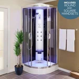 900 Quadrant Steam Shower Cabin with 6 Body Jets with Round and Square Handsets - £559 (with code) @ BetterBathrooms