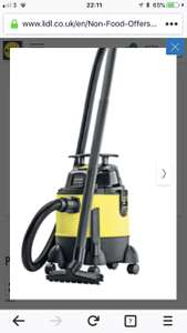 Lidl park side wet and dry vacuum - £34.99