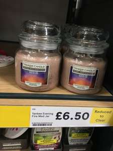 Yankee Home inspiration candles £6.50 each in Tesco Swansea