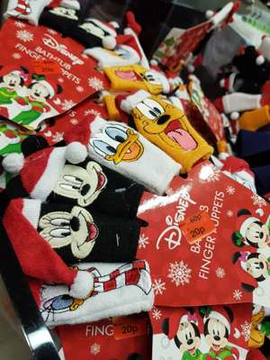 Disney Christmas Finger Puppets marked at 20p at Primark