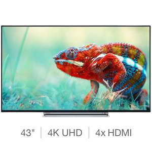 Toshiba 43U6763DB 43 Inch 4K Ultra HD Smart TV £274.99 @ Costco