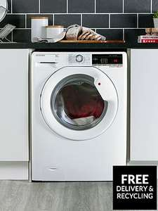 Hoover Dynamic Next DXOA49LW3 9kg Load, 1400 Spin Washing Machine with One Touch - White NFC £249.99 at VERY