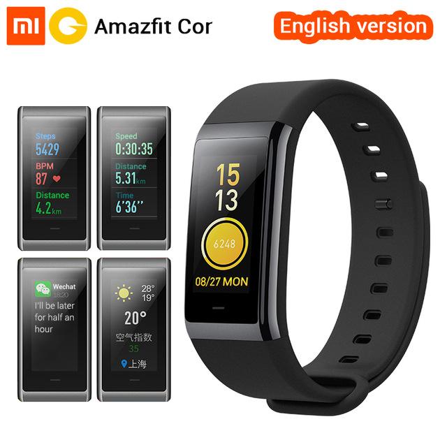 [English Version] Xiaomi Amazfit Cor MiDong Band 1.23 inch Color IPS Screen Smart Wristband Heart Rate Monitor Waterproof 50m £37.04 @ shenzhen okqi/aliexpress