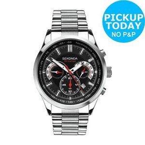 Sekonda Men's Black Dial Stainless Steel Dual Time Watch. for £39.99 @ Argos eBay free c&c