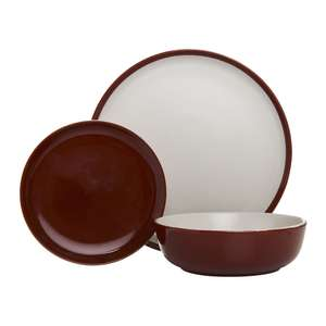 12 Piece Stoneware Dinner Set - Reactive Glazed Red for £5 @ Wilko