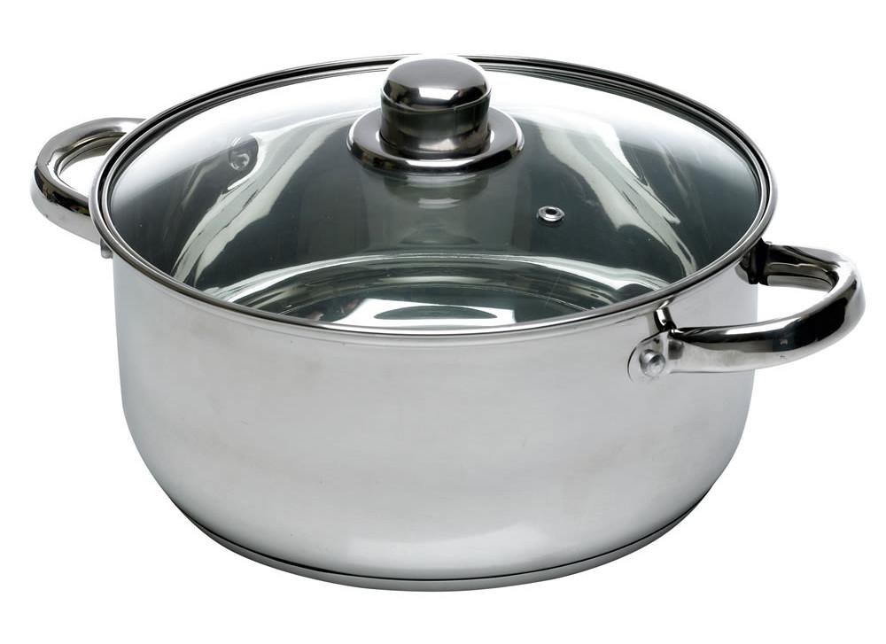 Casserole Dish Stainless Steel 24cm for £3 @ Wilko