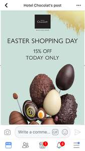 Hotel Chocolat 15% off today only