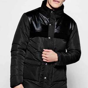 Boohoo Men Borg Detail Padded Coat £10 + £1.50 delivery