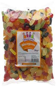 Kingsway Wine Gums 3kg at Amazon - £9.15 (Prime) £13.90 (Non Prime)