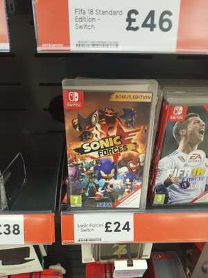 Sonic Forces Bonus Edition (Nintendo Switch) - Tesco Online & Instore - £24