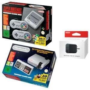 Nintendo Classic Mini Double Pack - Mini NES + SNES +Official USB AC adaptor £129.99 + free standard delivery (£1.99 next day) - Nintendo Store