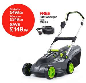 GTech Lawnmower With Free Fast Charger & Free Hedge Trimmer - £349.99 @ GTech