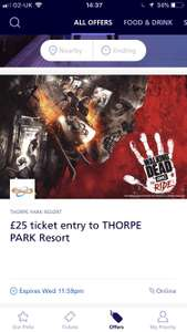 £25 Entry to Thorpe Park (O2 Priority) @ Thorpe Park (online only)