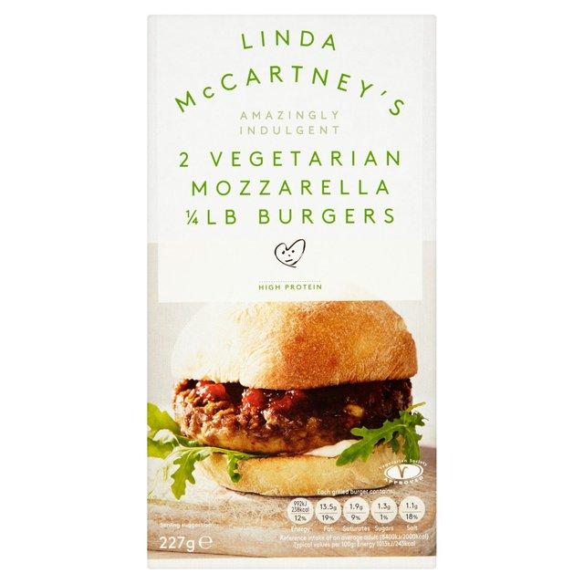 Linda McCartney's Meat Free 2 Mozzarella 1/4lb Burgers £1 Morrisons