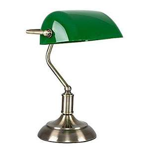 Traditional Style Antique Brass & Green Banker's Touch Table Lamp, £24.99 (was £29.99) & FREE UK Delivery @ Amazon / Dispatched from and sold by The Light Factory.