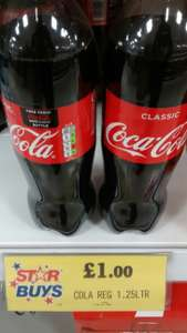 Free Bottle of 500ml Coke Zero with purchase of a promotional Regular Coca-Cola 1.25L bottle at Home Bargains