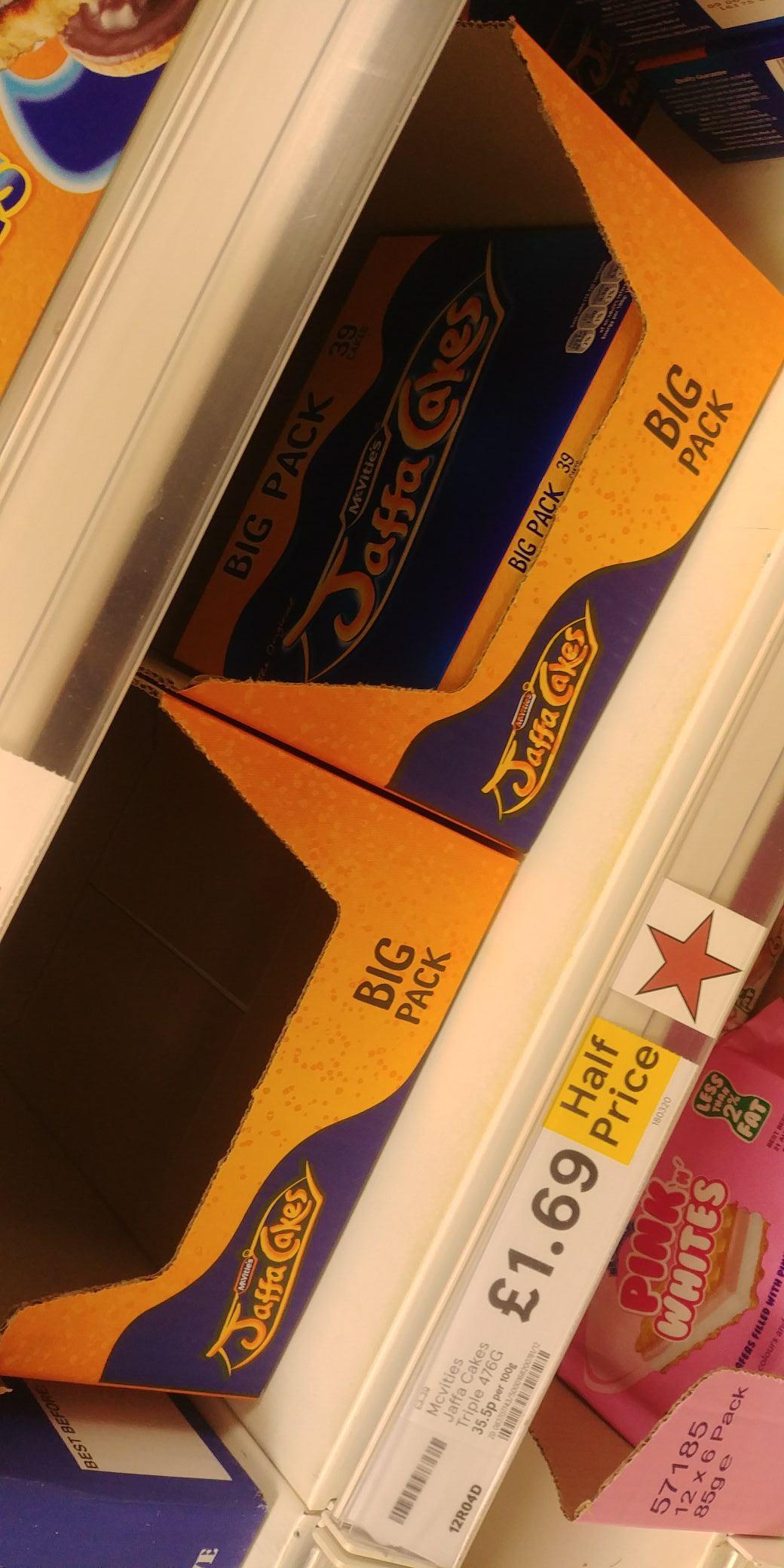 39 Jaffa Cakes Big Pack - Half Price - Tesco - £1.69 (Dundee)