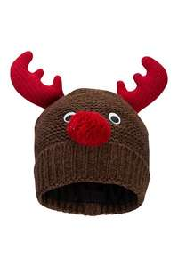 Xmas Reindeer Mens Beanie - Brown one size @ Mountain warehouse - £1.95 (Postage £2.50 for orders under £20)