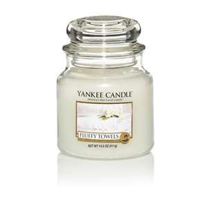 Yankee Candle - Medium 'Fluffy Towels' scented jar candle - 40% off was £20 now £12 @ Debenhams