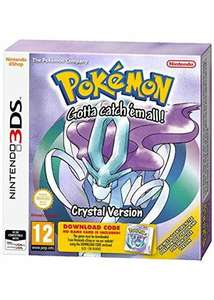Pokémon Crystal / Gold / Silver for Nintendo 3DS - 2 for £16 at Base.com