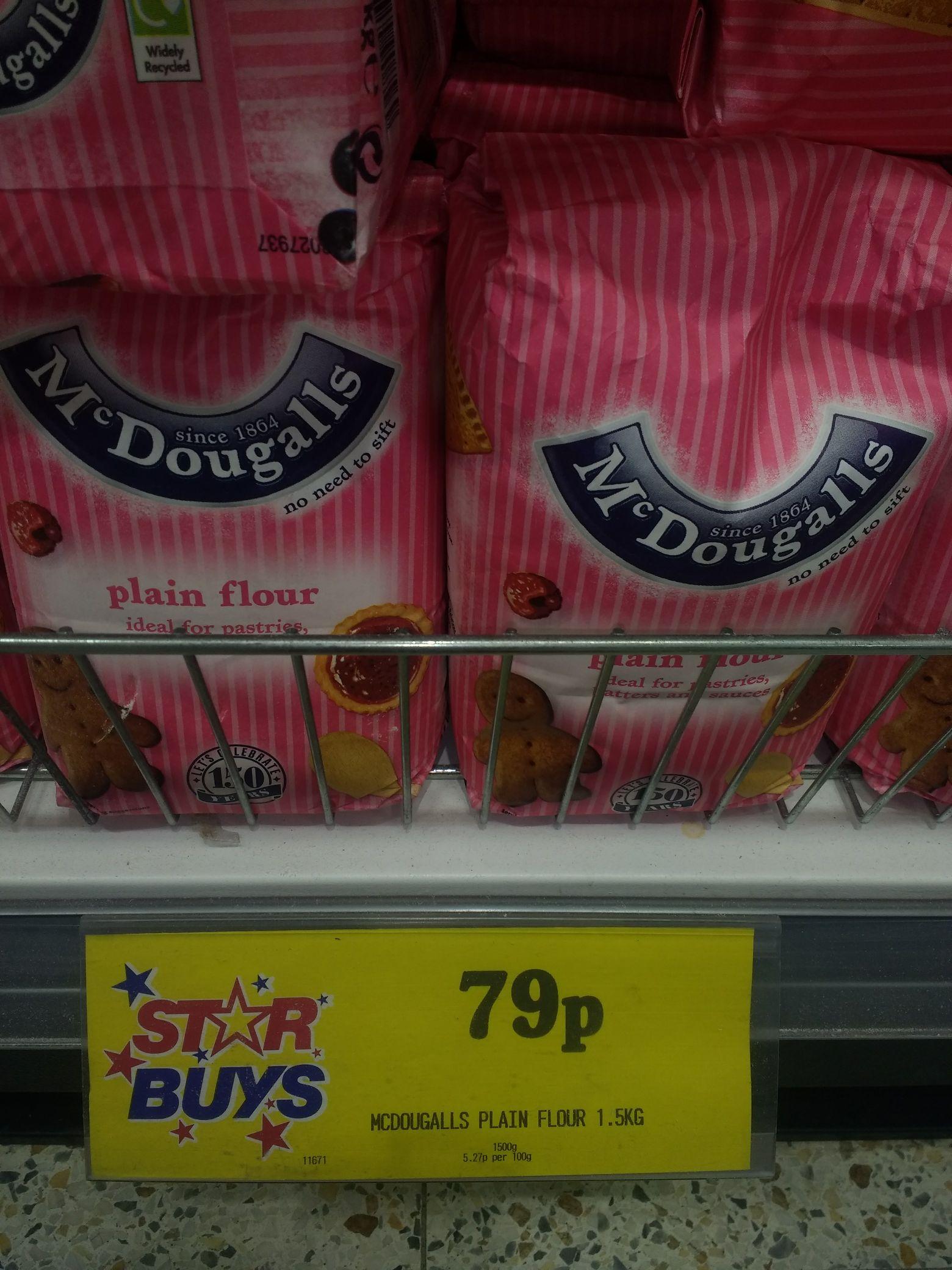 McDougalls Plain Flour 1.5 kg @ Home Bargains 79p