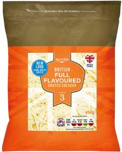 Valley Spire British Full Flavoured Grated Cheddar (450g) was £2.49 now £1.49 Available at Lidl this weekend 17th to 18th March