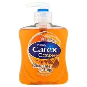 Carex Handwash Fun Editions Chocolate Orange 250ml and others in desc. 85p @ Superdrug