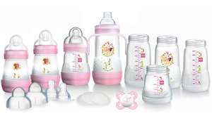 MAM easy start anti- colic 15 piece bottle starter set, pink or blue £24 @ Asda