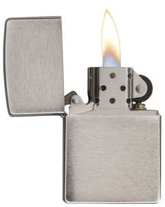 Zippo Classic Windproof Lighter Z200 Brushed Chrome Finish £11.99 7dayshop