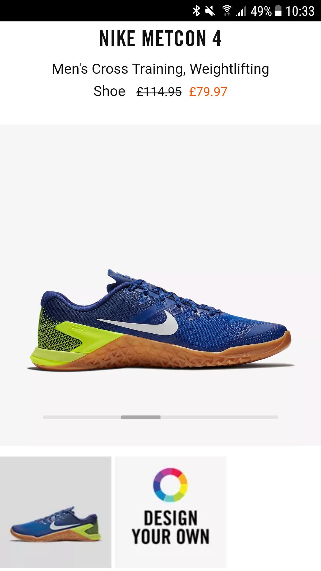 Nike Metcon 4 - Nike Sale - £79.97 @ Nike
