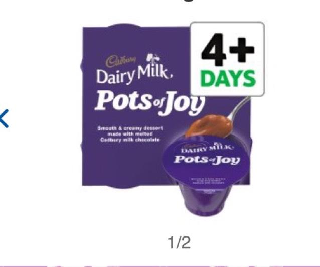 Cadbury Dairy Milk Pots of Joy 4 x 70g - £1 @ Tesco
