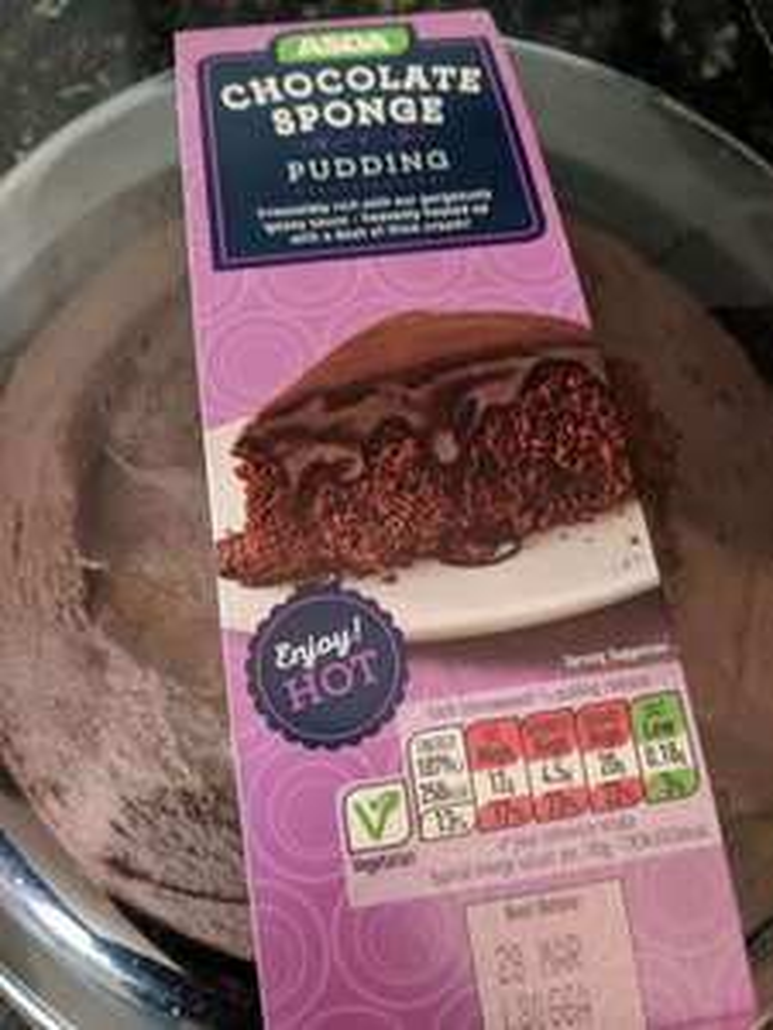 ASDA chocolate pudding half price - £1.50 instore