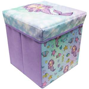 Mermaid Fabric Covered Collapsible Storage Ottoman £7 C+C @ The Works (Spend £10 for 20% wcode)