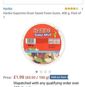 Haribo supermix £1.99 Amazon add on can get it without spending over £20 using Alexa