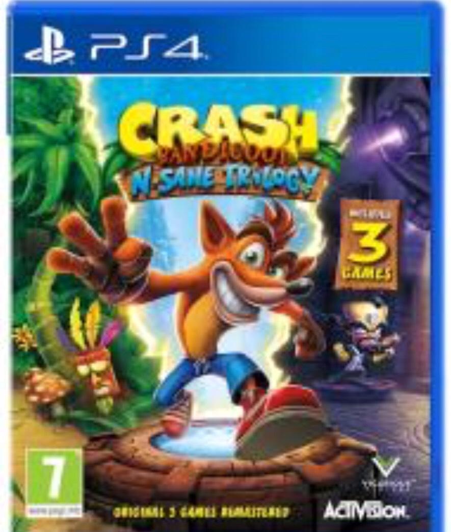 Crash Bandicoot N. Sane Trilogy (PS4) , £19.99 (pre-owned) delivered @ Grainger games