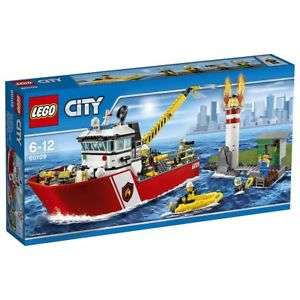 LEGO City 60109 Fire Boat RRP £64.99 NOW £36.50 FREE DELIVERY at Tesco eBay Outlet