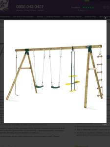 Plum - Wooden Frame Swing Set £239.99 @ Allroundfun.co.uk