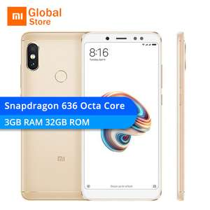 "Presale - Xiaomi Redmi Note 5 (Gold) 3GB RAM 32GB ROM Note5 Smartphone Snapdragon 636 Octa Core 5.99"" 18:9 Screen 13MP Front Camera £158 - aliexpress"