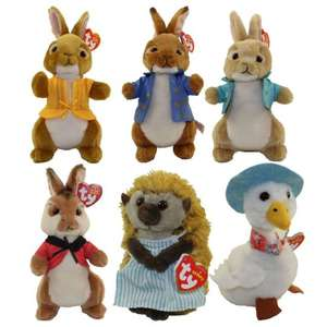 Peter Rabbit Plush Beanies Pre-Order Zoom only £7.19 with code SIGNUP10 @ Zoom