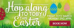 Toby carvery 3 course Easter menu £9.99 (add a drink for £1)