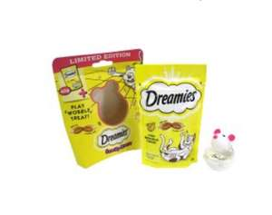 Dreamies Snacky Mouse Cat Treats and Toy now £1 at Tesco