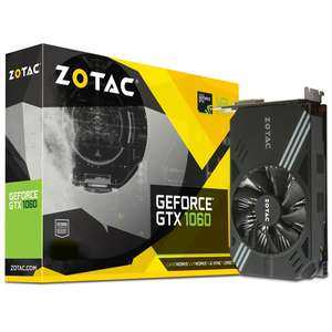 GeForce GTX 1060 Mini 3072MB GDDR5 PCI-Express Graphics Card @ Overclockers - £228 Delivered