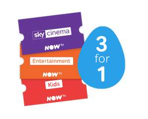3 months of Sky Cinema (£9.99), Entertainment (£7.99) or Kids TV (£2.99) for the price of 1 @ Now TV - (new customers)